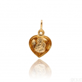 Złoty medalik Matka Boska SERCE